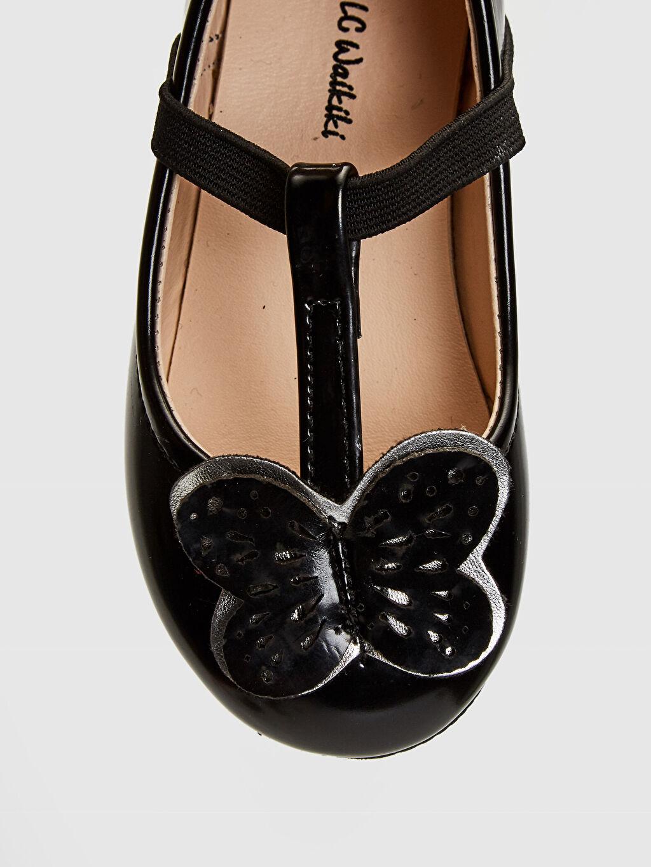 LC Waikiki Siyah Kız Bebek Aplikeli Babet Ayakkabı