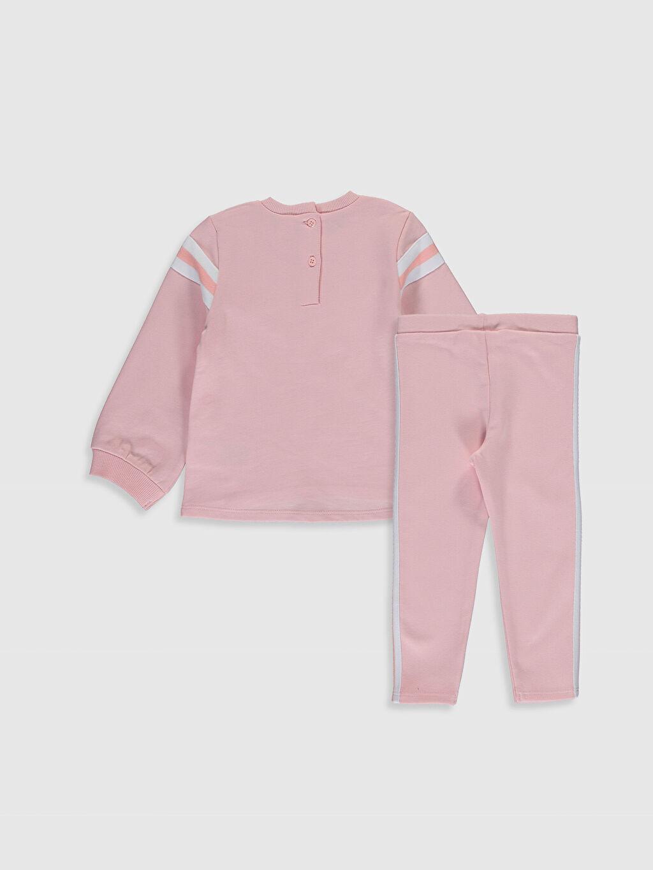 %100 Pamuk %97 Pamuk %3 Elastan  Kız Bebek Sweatshirt ve Tayt Takım
