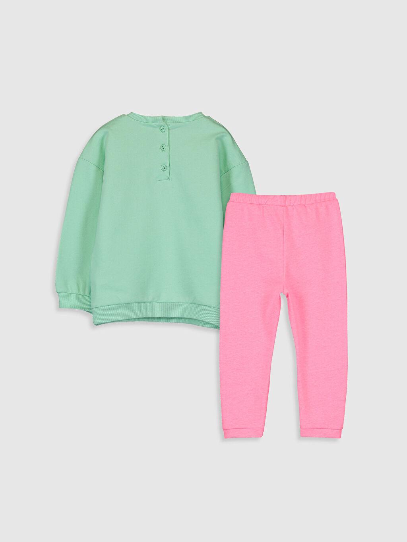 %100 Pamuk %50 Pamuk %50 Polyester  Kız Bebek Slogan Baskılı Takım