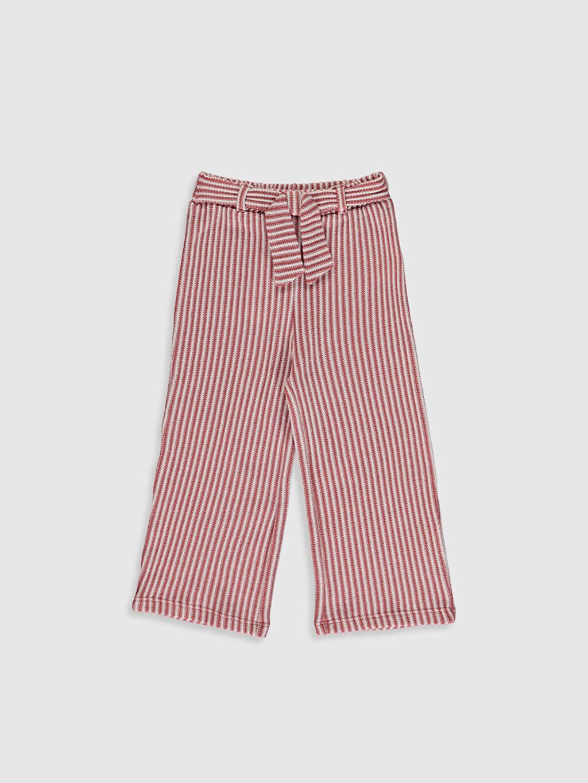 Pembe Kız Bebek Çizgili Pantolon 0SG279Z1 LC Waikiki
