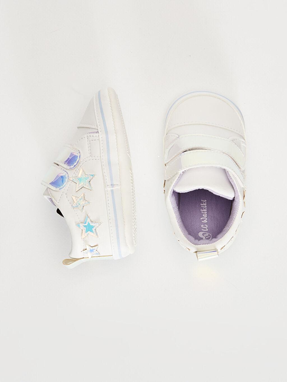 %0 Diğer malzeme (poliüretan)  Kız Bebek Cırt Cırtlı Yürüme Öncesi Ayakkabı