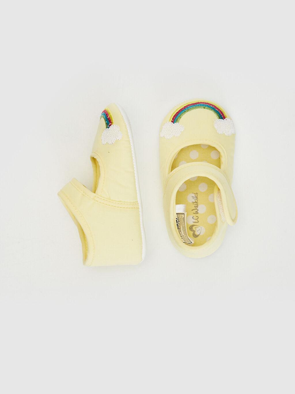 %0 Tekstil malzemeleri (%100 poliester)  Kız Bebek Cırt Cırtlı Yürüme Öncesi Ayakkabı