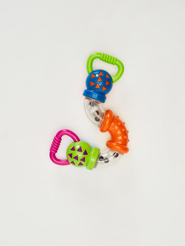 %100 Plastik  Kanz Eğitici Oyuncak Zıg-Zag Çıngırak Oyuncak