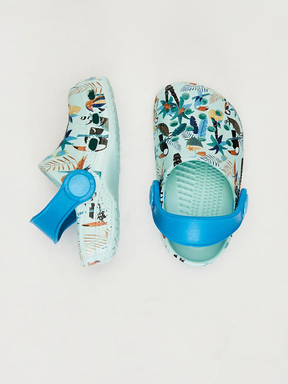 Diğer malzeme (eva)  Erkek Bebek Baskılı Sandalet