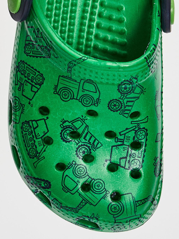 LC Waikiki Yeşil Erkek Bebek Baskılı Sandalet