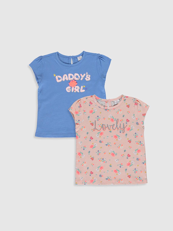 Pembe Kız Bebek Baskılı Tişört 2'li 0SG930Z1 LC Waikiki