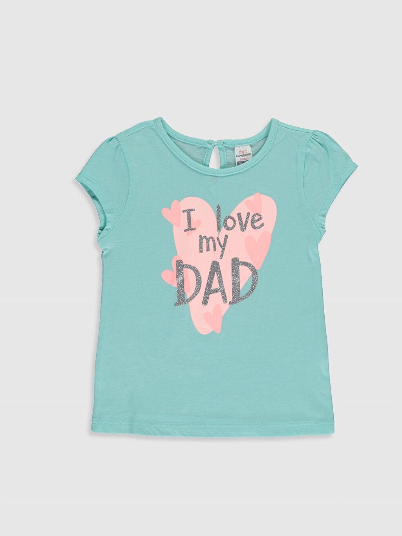 Kız Bebek Kız Bebek Baskılı Pamuklu Tişört 2'li