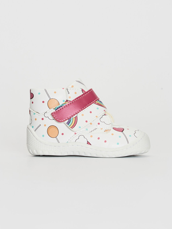 Beyaz Kız Bebek Anatomik Taban İlk Adım Ayakkabısı 0SH058Z1 LC Waikiki