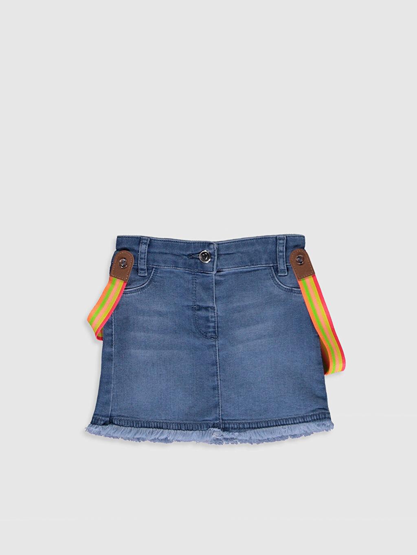 İndigo Kız Bebek Jean Etek ve Pantolon Askısı 0SH151Z1 LC Waikiki