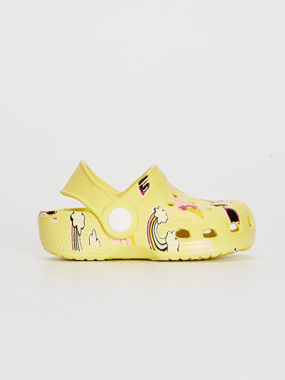 Sarı Kız Bebek Sandalet 0SH209Z1 LC Waikiki