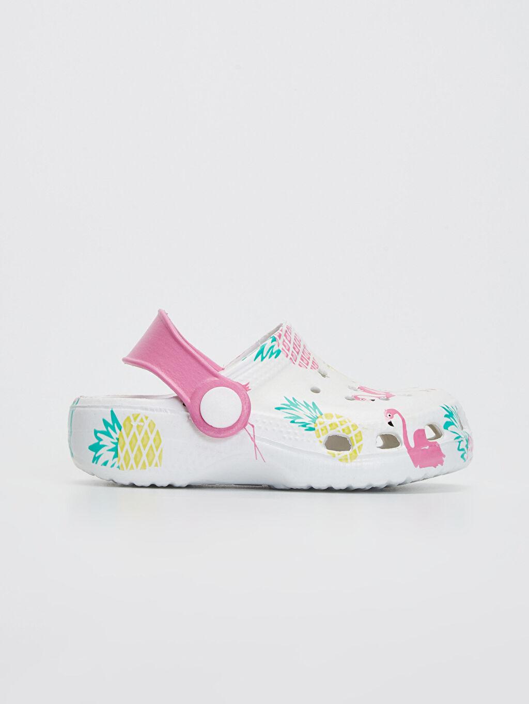 Beyaz Kız Bebek Flamingo Baskılı Sandalet 0SH262Z1 LC Waikiki