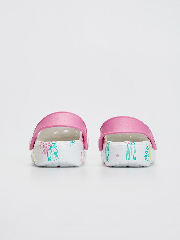 Kız Bebek Flamingo Baskılı Sandalet