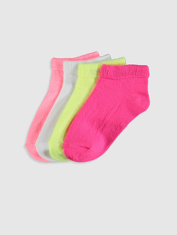 Pembe Kız Bebek Patik Çorap 4'lü 0SH286Z1 LC Waikiki
