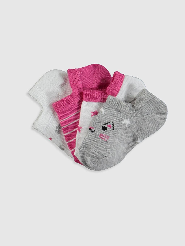 Çok Renkli Kız Bebek Patik Çorap 4'lü 0SH287Z1 LC Waikiki