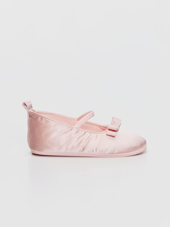 Pembe Kız Bebek Fiyonk Detaylı Babet Ayakkabı 0SH306Z1 LC Waikiki