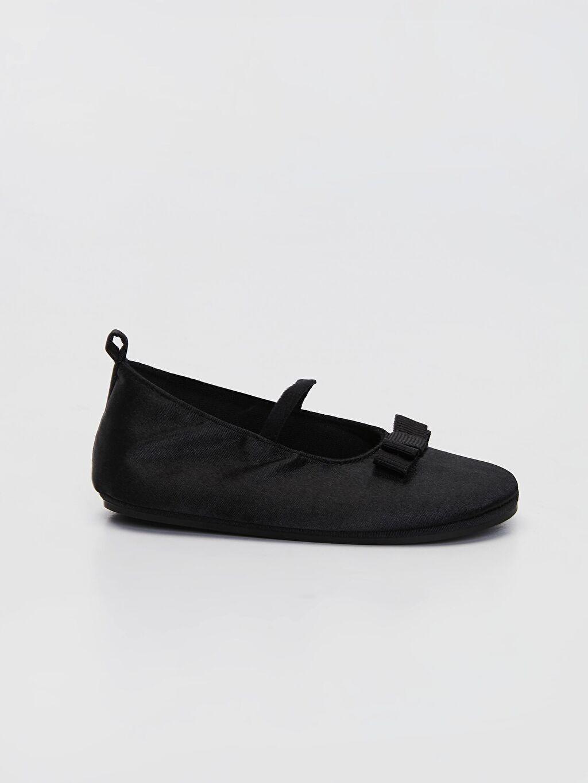 Siyah Kız Bebek Fiyonk Detaylı Babet Ayakkabı 0SH306Z1 LC Waikiki