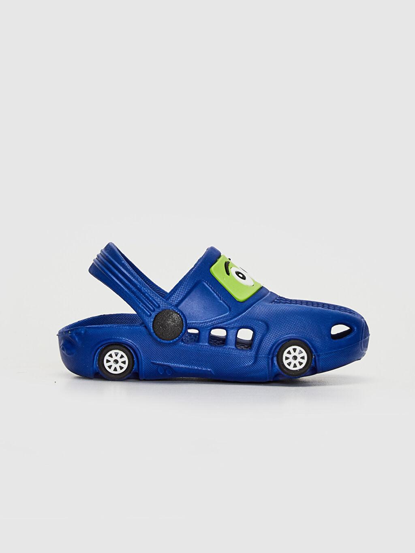 Mavi Erkek Bebek Araba Silüetli Sandalet 0SH327Z1 LC Waikiki