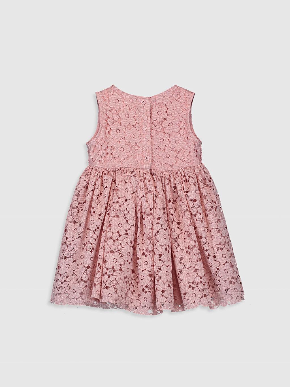 %100 Polyester %100 Pamuk Desenli Kız Bebek Dantelli Elbise