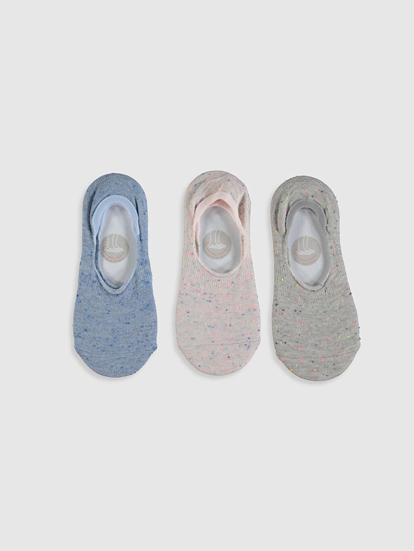 %60 Pamuk %19 Polyester %20 Poliamid %1 Elastan  Kız Bebek Patik Çorap 3'lü