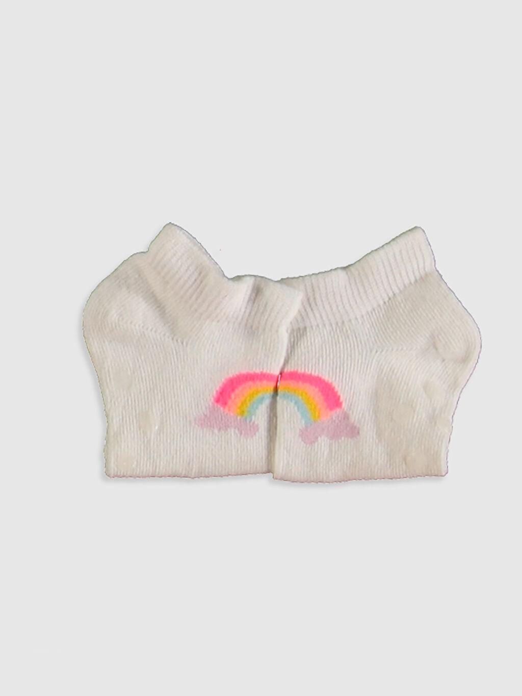 Kız Bebek Kız Bebek Baskılı Patik Çorap 3'lü