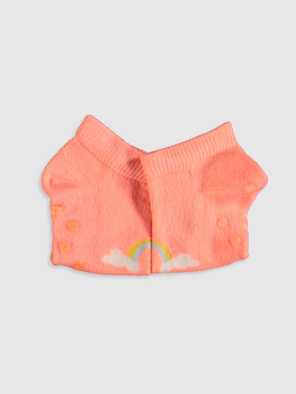Kız Bebek Baskılı Patik Çorap 3'lü