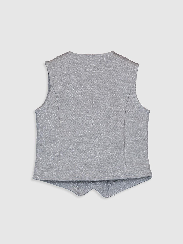 %55 Pamuk %45 Polyester Yelek Orta Erkek Bebek V Yaka Yelek
