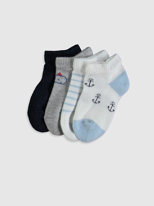Çok Renkli Erkek Bebek Patik Çorap 4'lü 0SH547Z1 LC Waikiki