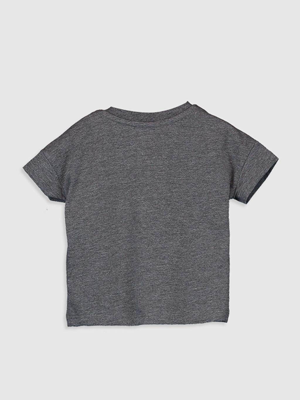 %45 Pamuk %55 Polyester Normal Baskılı Kısa Kol Tişört Bisiklet Yaka Erkek Bebek Baskılı Tişört