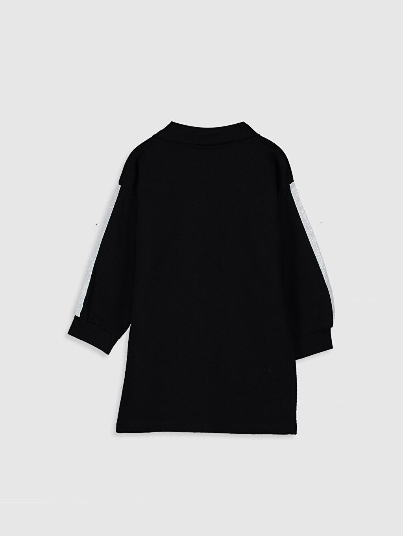 %84 Pamuk %16 Polyester Düz Kız Bebek Yazı Baskılı Elbise