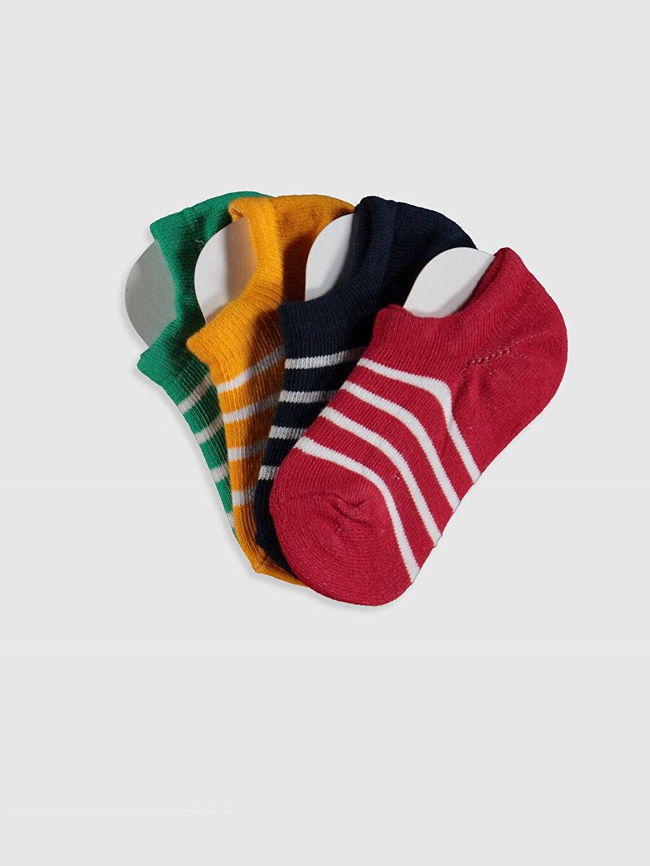 Çok Renkli Erkek Bebek Çizgili Patik Çorap 4'lü 0SH802Z1 LC Waikiki