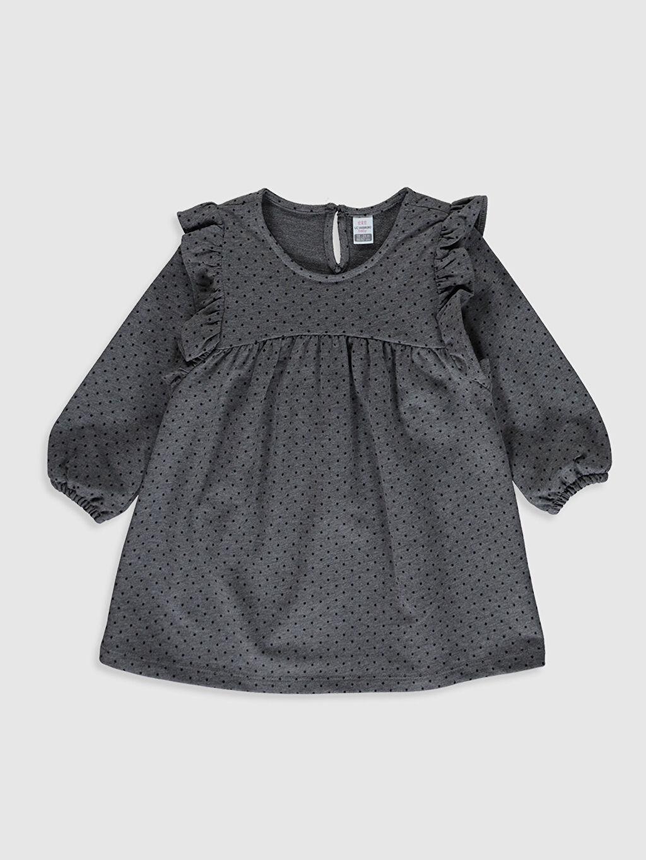 Gri Kız Bebek Puantiyeli Elbise 0SI179Z1 LC Waikiki
