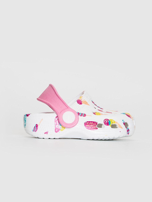 Beyaz Kız Bebek Baskılı Sandalet 0SI291Z1 LC Waikiki
