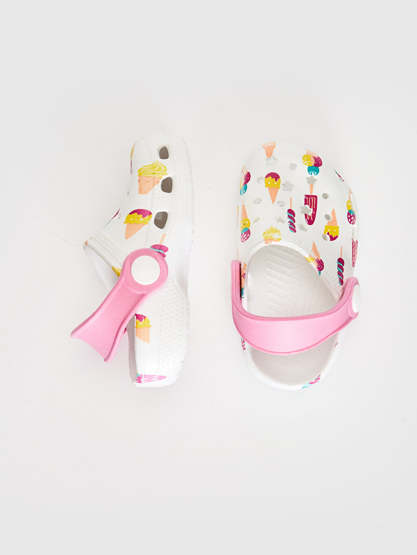%0 Diğer malzeme (eva)  Kız Bebek Baskılı Sandalet