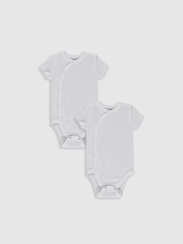 Beyaz Yenidoğan Pamuklu Çıtçıtlı Body 2'li 0SI508Z1 LC Waikiki