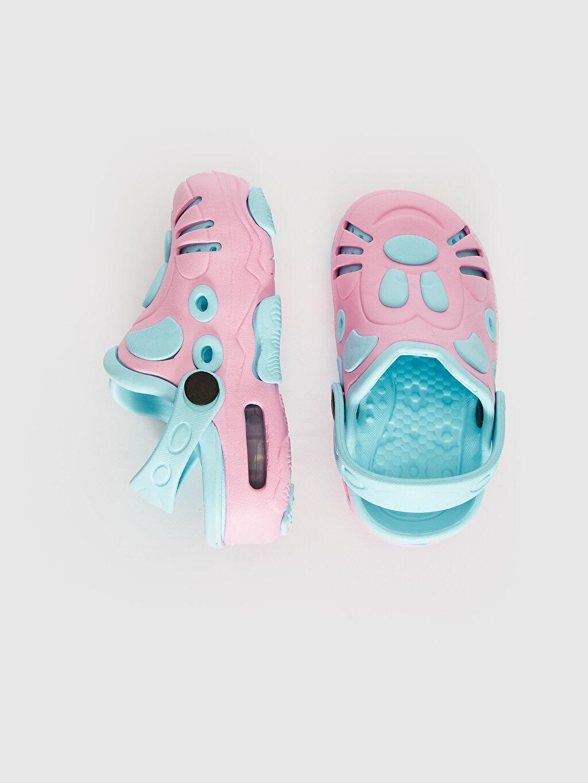 %0 Diğer malzeme (eva)  Kız Bebek Kalın Taban Sandalet