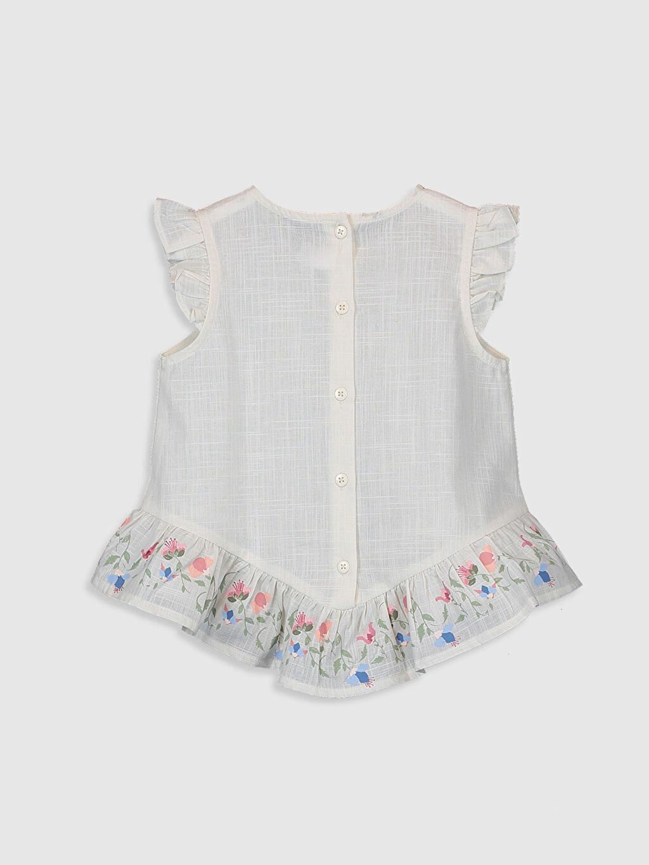 %100 Pamuk Düz Kolsuz Bluz Standart Kız Bebek Keten Bluz