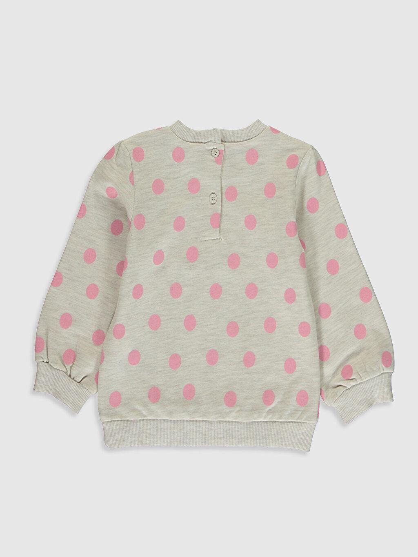 %69 Pamuk %31 Polyester  Kız Bebek Puantiyeli Sweatshirt
