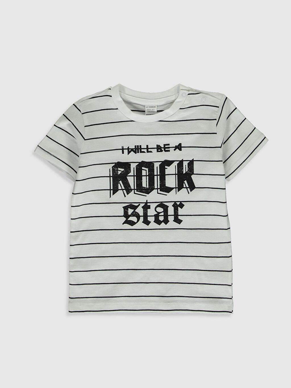 Erkek Bebek Baskılı Pamuklu Tişört 2'li