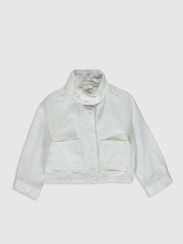 Beyaz Kız Bebek Gabardin Ceket 0SJ074Z1 LC Waikiki