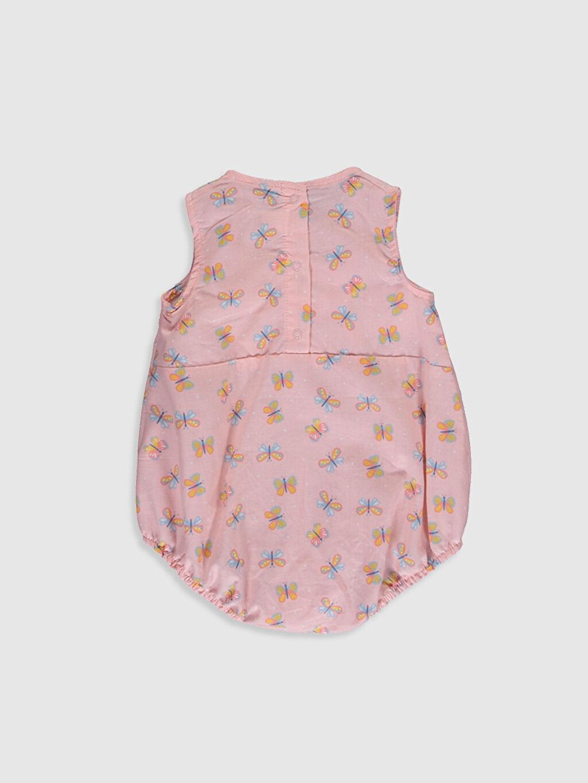 %100 Pamuk  Kız Bebek Desenli Çıtçıtlı Body