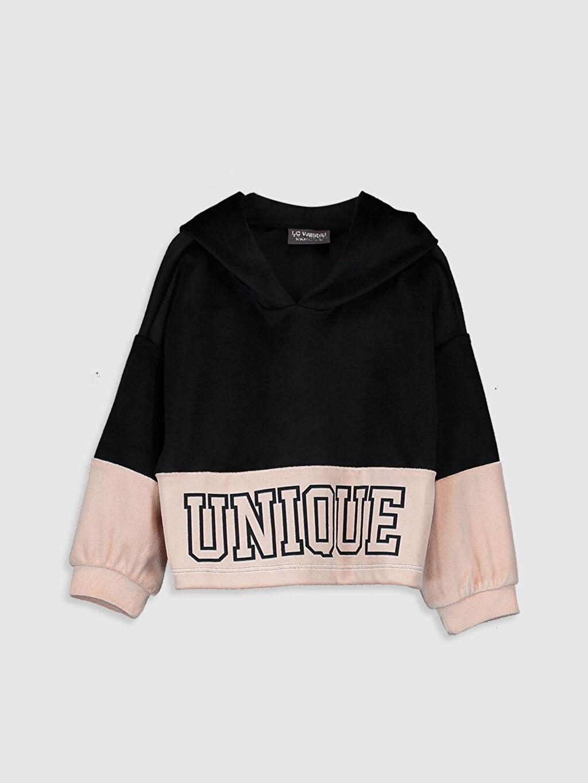 Siyah Kız Bebek Kapüşonlu Sweatshirt 0SJ322Z4 LC Waikiki