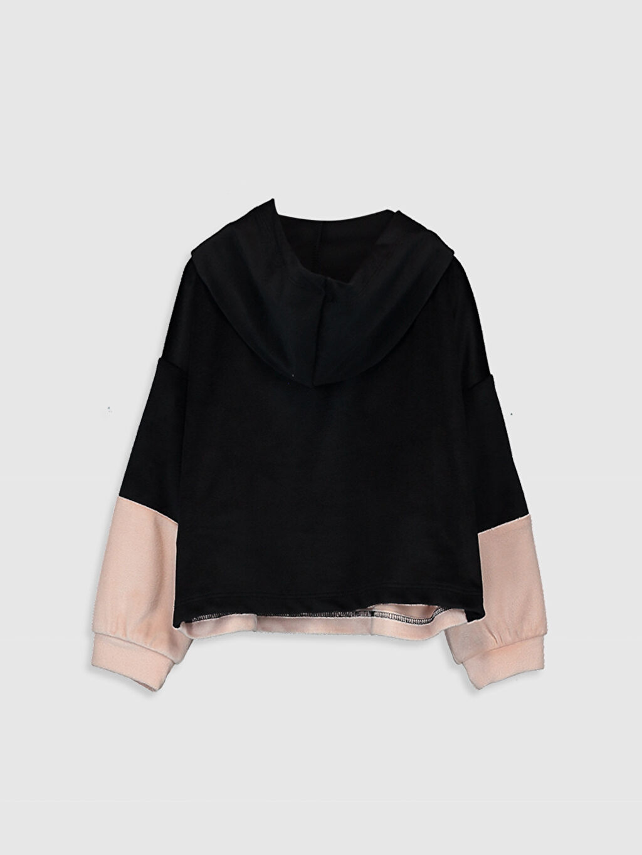 %94 Polyester %6 Elastan  Kız Bebek Kapüşonlu Sweatshirt