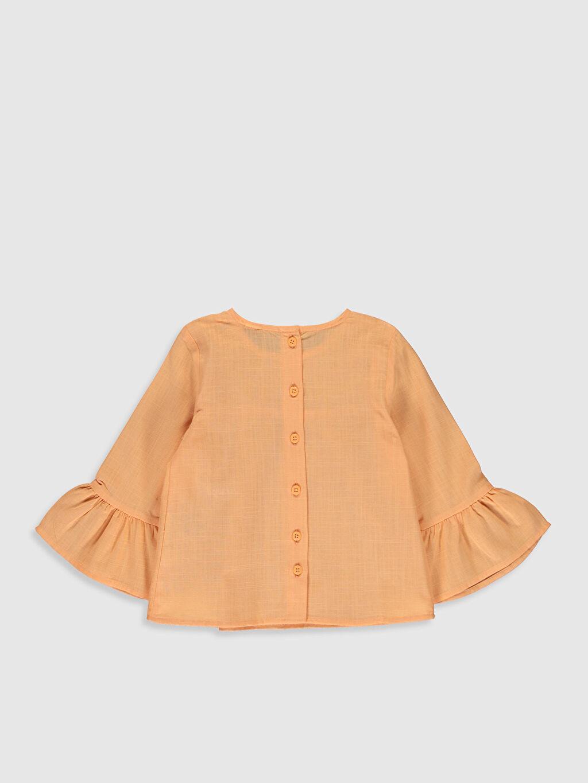 %100 Pamuk Standart Düz Uzun Kol Bluz Kız Bebek Basic Bluz