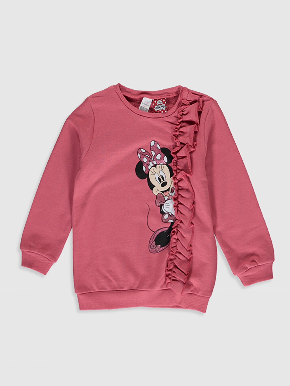 Pembe Kız Bebek Minnie Mouse Baskılı Sweatshirt 0SJ599Z1 LC Waikiki