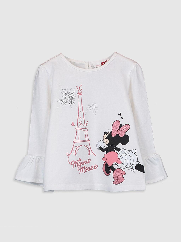 Ekru Kız Bebek Minnie Mouse Baskılı Tişört  0SJ601Z1 LC Waikiki