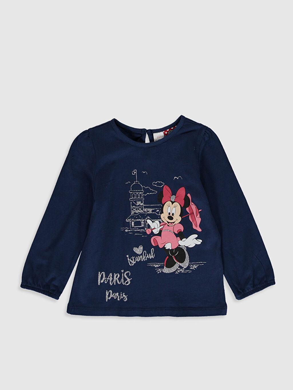 İndigo Kız Bebek Minnie Mouse Baskılı Tişört  0SJ609Z1 LC Waikiki
