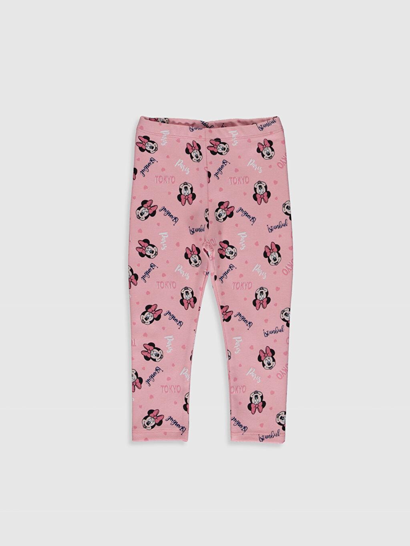 Pembe Kız Bebek Minnie Mouse Baskılı Uzun Tayt 0SJ610Z1 LC Waikiki