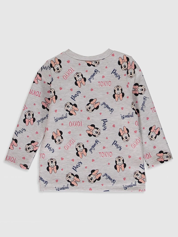 %34 Pamuk %66 Polyester  Kız Bebek Minnie Mouse Baskılı Sweatshirt