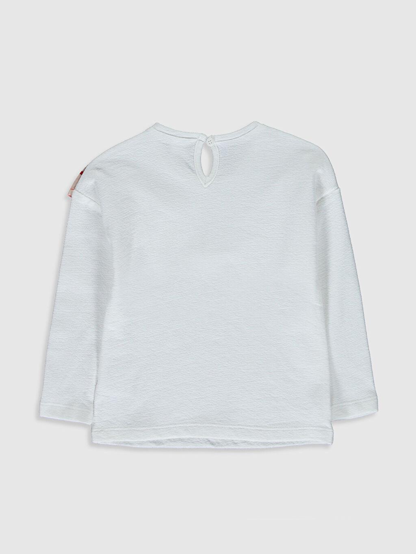 %100 Pamuk Standart Düz Uzun Kol Tişört Bisiklet Yaka Kız Bebek Pamuklu Tişört