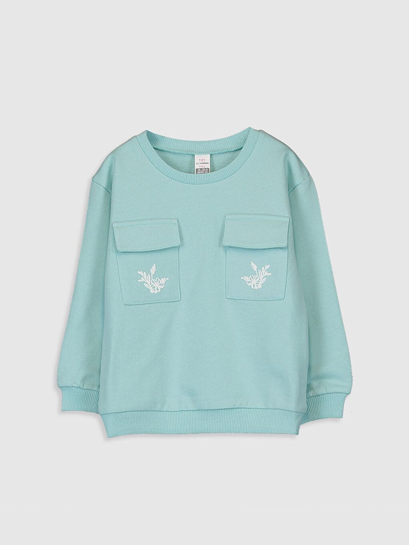 Turkuaz Kız Bebek Kalın Sweatshirt 0SJ659Z1 LC Waikiki